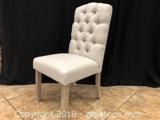 Linen Tufted Modern Dining Chair (E)