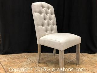 Linen Tufted Modern Dining Chair (F)