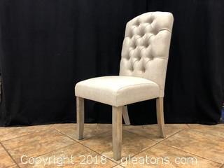 Linen Tufted Modern Dining Chair (G)