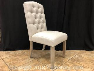 Linen Tufted Modern Dining Chair (H)