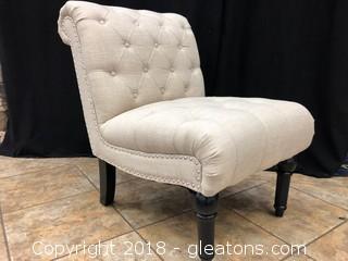 Modern Linen Tufted Lounge Chair