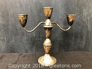 Sterling Weighted Candle Stick, By Dunchin Sold (C)