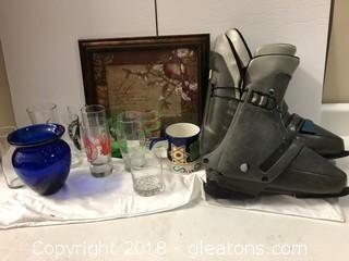 Misc Glassware + Slci Boots
