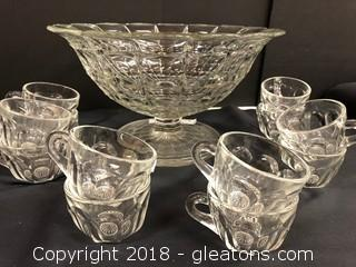 12 Cups/Punch Bowl Set - Very Vintage