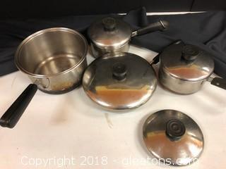 Vintage Revere Ware Pots + Pans