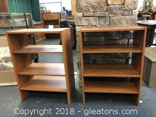Pair Of Short Book Shelves