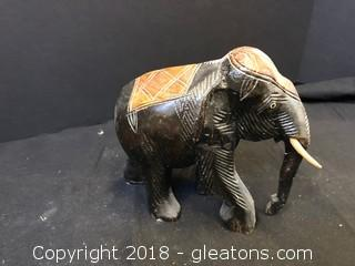 Small Wooden Elephant Statue