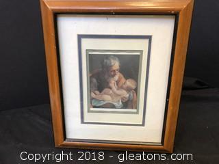 Jesus and Joseph Print In Frame