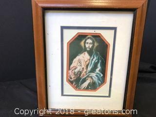 Jesus Print W/Frame