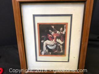 Post Crucifix Jesus Print W/Frame