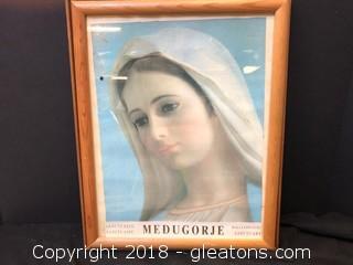 'Medugorje' Print W/Frame