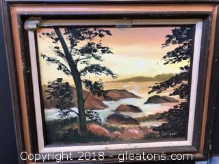 Classic Landscape Framed Canvas