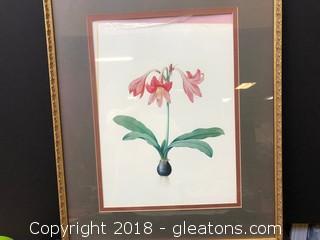 Framed Flower Print