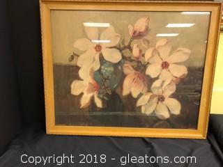 Beautiful Vintage Flower Pic - Little USA