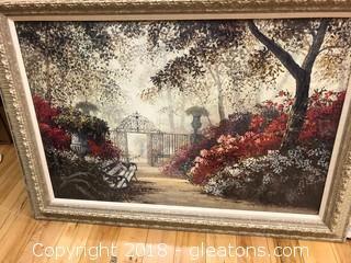 Elegant Garden Scene  - Mamouth Frame