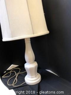 Vintage Lamp + Shade Linen Shade