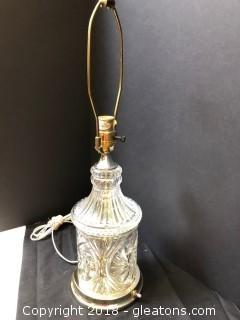 "Crystal Lamp 25"" LOT A"