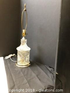 "Crystal Lamp 25""  LOT B"