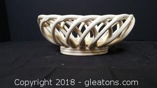 Ceramic Wicker Design Bowl