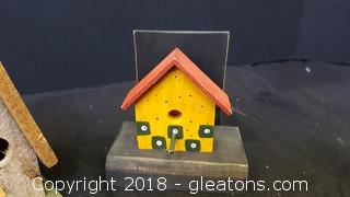 Handmade Wooden Bird House Lot Of (2)