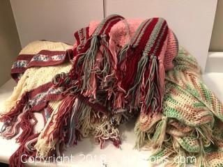 Lot Of (3) Crochet Blankets