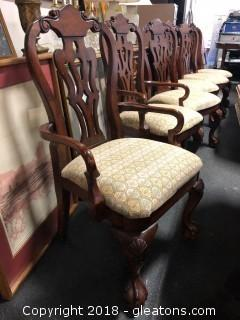Dining Chairs Set Of Six Ball And Claw