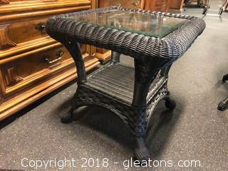 Outdoor Side Table (A) Black