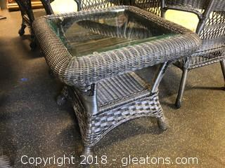 Outdoor Side Table (B) Black