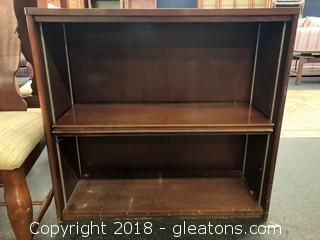 Short Bookshelf Brown, 2 Shelves Adjustable