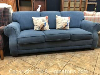 LA Z Boy Sofa Chenille Upholstery Excellent Condition