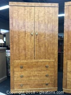 Beautiful Solid Lane Wardrobe & Chest - Excellent Condition  (A)