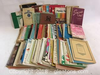 Huge Collection Of Sheet Music And Song Books A Variety Of Genres And Styles
