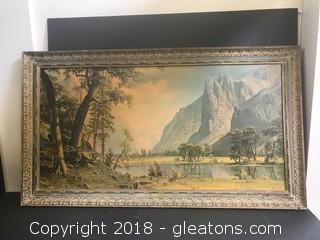 """Albert Bierstadt Print """"Yosemite"""""""