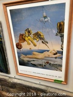 Framed Museum Of Art Print Salvador Dali