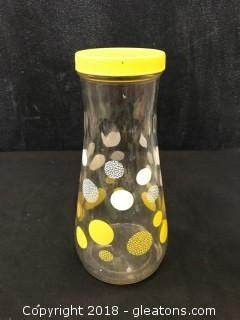 Vintage Glass Jar W/Lid