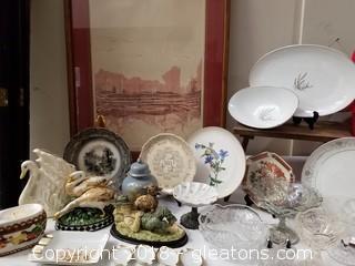 3 Vintage Cuties Tray - Thelma Mann Ashtray - Furster Berq 3 Leaf Clover Dish