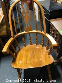 Oak Side Chair With Arms By Cochrane (B)