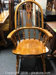 Oak Side Chair With Arms By Cochrane (C)