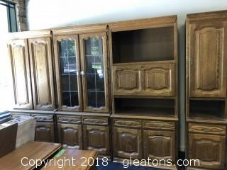 Wall Unit with Lots of Shelving