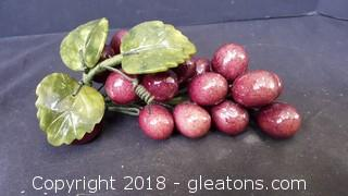Handmade/Painted Glass Grapes