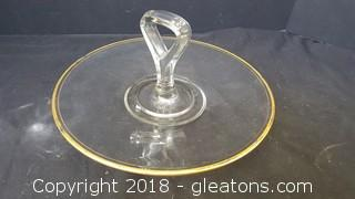 Small Glass Serving Tray