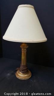 """Small Table Top Lamp Gold/Rose 17""""H"""