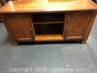 TV Stand 2 Compartments 2 Shelves