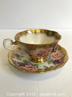 "Royal Albert English Fine Bone China ""Amethyst"" Tea Cup With Saucer"