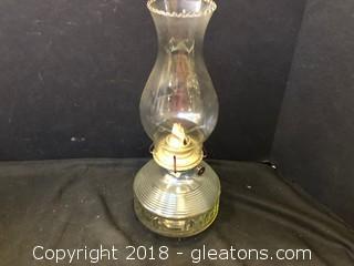 Antique Glass Kerosene Lamp