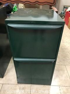 2 Drawer Green Filing Cabinet