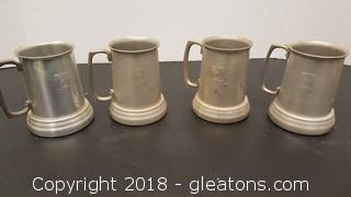 Set Of (4) Vintage Play Boy Bunny Mugs