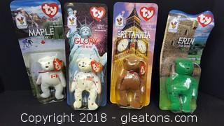 Set Of (4) Ty Beanie Babies Collectibles