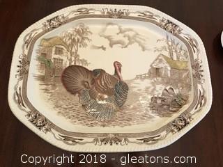 Large Johnson Bros Turkey Platter