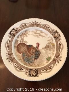 "Set of 8 Johnson Bros Barnyard King Dinner 11"" Plates"